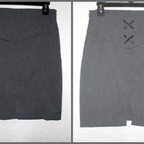 Express Design Studio Gray Pencil Skirt Corset Back High Waist Stretch Size 6 Photo