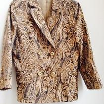Express Design Studio Jacket Double Breasted Paisley Design Size 10 Photo