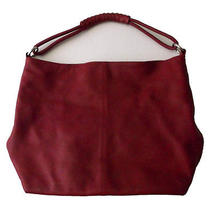 Express Design Studio Large Leather Tote Red Photo