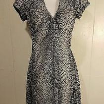 Express Design Studio Leopard Wrap Dress 4 Black/gray Photo