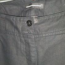 Express Design Studio Linen Cotton Blend Black Pants Trousers 4 Photo