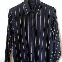 Express Design Studio Men's Button Up Shirt (Black) Medium  Like New Dkny 15 Photo
