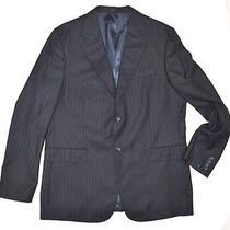Express Design Studio Men Suit Designer Clothes Black Blazer Size 44r New Id12 Photo