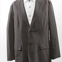Express Design Studio Mens Suit Jacket Blazer Sport Coat Large Gray Pinstripe Photo