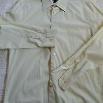 Express Design Studio Modern Fit Long Sleeve Shirt Men's Size M  Yellow Photo