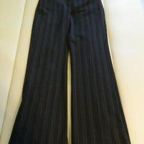 Express Design Studio Pants Slate Gray With Plum and Gray Pinstripes Size 2 Photo
