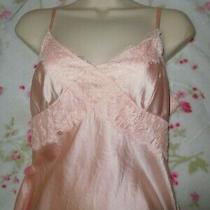 Express Design Studio Pink Stretch Silk Camisole Tank Top Lace Trim M Photo