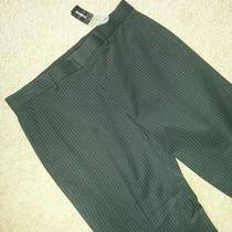 Express Design Studio Producer Mens 34w 30l Flat Front Dress Pants Nwts Photo