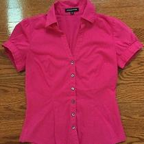 Express Design Studio Short Sleeve Dress Shirt Pink Xs Photo