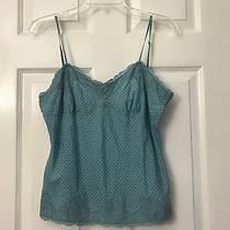 Express Design Studio Size S Teal Print Lace Trimmed Cami/tank Photo