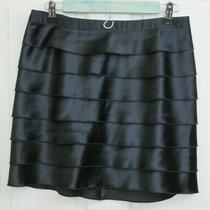 Express Design Studio Skirt Womens Size 4 30x16 Black Layered Shinny 96-21890 Photo