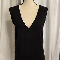 Express Design Studio Sleeveless Wool Sweater Size L Soft Black Vneck Photo