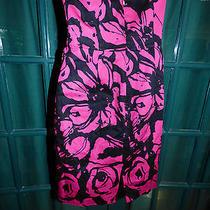 Express Design Studio Strapless Fushia & Black Short Dress Size 4 Photo