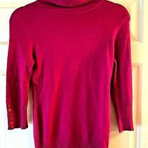 Express Design Studio Sweater Fushia Pink 3/4 Sleeve Size Xs Photo