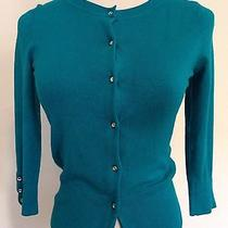 Express Design Studio Turquoise Cardigan Sweater Xs Photo