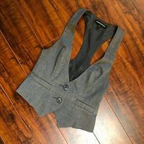 Express Design Studio Urban Gray Tux Style Layering Vest Top Women's Sz 0 Photo