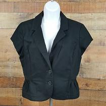 Express Design Studio Women's 2 Button Blazer Black Size 10 D177 Photo