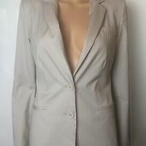 Express Design Studio Women's Gray Striped Blazer Size 4 Photo