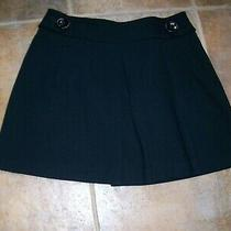Express Design Studio Womens Black Short Pleated/flared Stretch Skirt Size 6 Photo