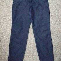 Express Design Studio Zipper Leg Slim Blue Jeans Size 4 Photo