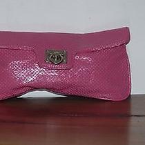 Express Design Studios Pink Vinyl Wristlet Clutch Purse Euc Photo