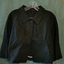 Express Design Studios Women's Black Jacket With Pockets - Size L Photo