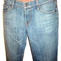Express Designer Stretch Straight Leg Jeans 1/2 Small 25.5 Photo