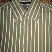 Express Designs Studio Mens Size S 14-14 1/2 Modern Fit Dress Shirt Long Sleeve Photo