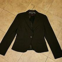 Express Designstudio Black Pinstripe Blazer Jacket Size 6 Photo