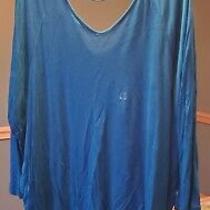 Express Dolman Shirt Women's Size Large Royal Blue Photo