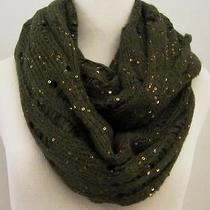Express Double Loop Infinity Scarf Green With Gold Sequins Simply Beautiful Photo