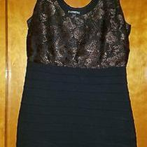 Express Dress Black and Gold Size Med Photo