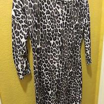 Express Dress Medium  Black and White Leopard Print Photo