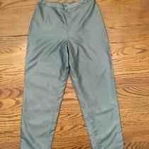 Express Dress Pants Womens Size 3/4 Gray Side Zipper Polyester Ankle Pants Photo