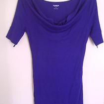 Express Dress Purple Short Sleeve Cowl Neck Sexy Mini Dress Size Small Photo