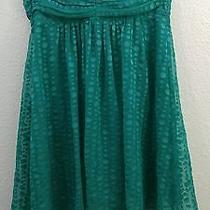 Express Dress Size 10 Mint Green Polka Dot Babydoll Strapless Floaty Euc 64 Photo
