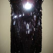 Express Dress Size 8 Metallic Long Sequins Sexy Holiday Nwt  Photo