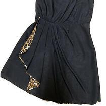 Express Dress Strapless Side Zipper  Excellent Condition Black and Zebra Print Photo