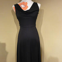 Express Dress Sz 1/2 Black Jackie O Style Cocktail Tank Top Dress W/drape Neck Photo