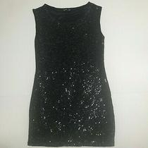 Express Dress Sz Xs Extra Small Black Sequence Glitter Dress Bling Inside Liner Photo
