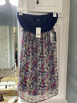express dress xs new With Tags.   Strapless, Knee Length Photo