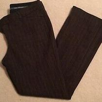 Express Editor Brown Wool Pants With Pinstripe Size 8 Photo