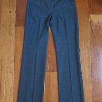 Express Editor Grey Crosshatch Luxury Stretch Woven Pants 2 Photo