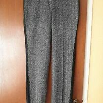 Express Editor Herringbone Wool Blend Pants With Side Lace Trim Size 8r Photo