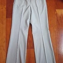 Express Editor Light Grey Pinstripe Luxury Stretch Woven Pants 2 Photo
