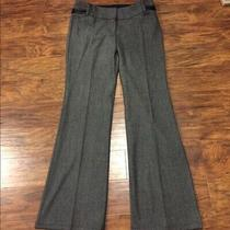 Express Editor Pants Sz 0r Gray W/faux Leather Detail Photo