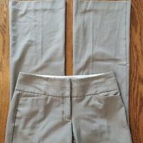 Express Editor Woman Sz 6r Pants Brown Colorblock Wide Waistband Zip Up Bootcut  Photo