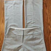 Express Editor Womans Sz 6r Pants Gray Colorblock Wide Waistband Zip Up Bootcut  Photo