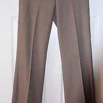 Express Editor Women Pants Front Pocket Stripes Dress Career Trousers Grey Sz 0r Photo