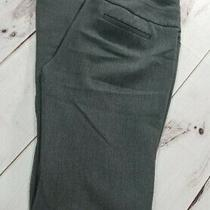 Express Editor Women Sz 8l Inseam 35 Stretch Gray Flat Front Flare Career Pants Photo